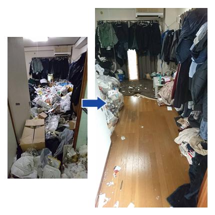 ゴミ屋敷汚部屋片付け実例01