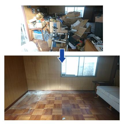 ゴミ屋敷汚部屋片付け実例03