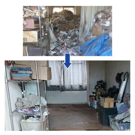 ゴミ屋敷汚部屋片付け実例06