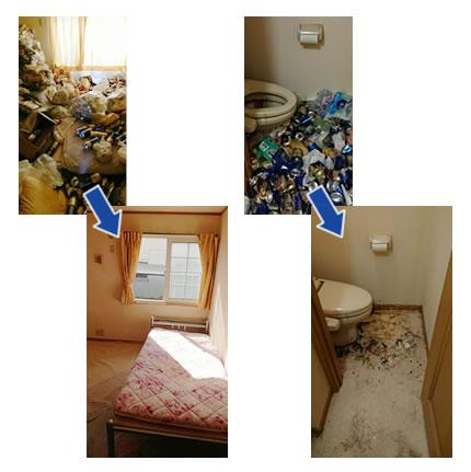 ゴミ屋敷汚部屋片付け実例08