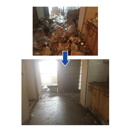 ゴミ屋敷汚部屋片付け実例12