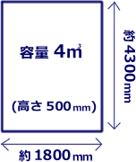 3tトラック荷台イメージ